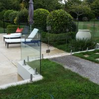 Andrews Pool - Clear Glass Pool Gate