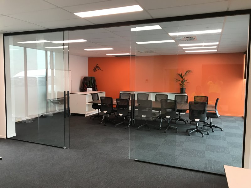 Toughened Glass Office Sliders